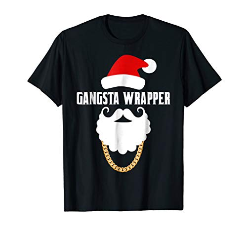 Xmas Gangsta Wrapper Santa Claus Funny Christmas T-Shirt