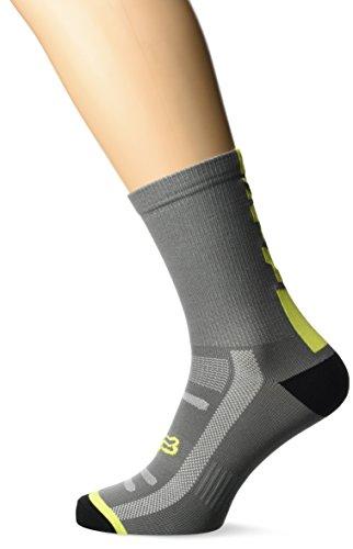 Fox Racing 8in Trail Sock Graphite/Yellow, S/M - Men's