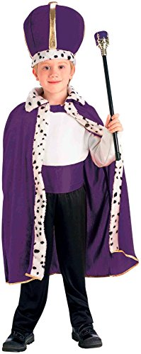 Forum Novelties King Robe and Crown Set Purple Costume, One Size -
