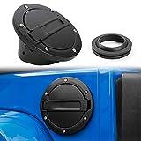 Gas Tank Cap JeCar Fuel Filler Door Cover for 2007-2018 Jeep Wrangler JK & Unlimited