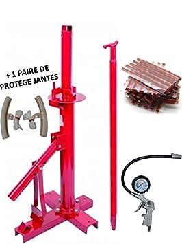 démonte neumático Manual Auto + 60 mechas reparación neumáticos + 1 pistola de inflado + 2 protecciones Llanta: Amazon.es: Coche y moto