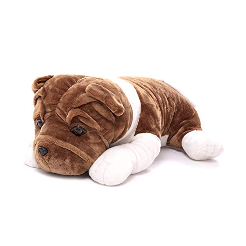 Plushland Realistic Stuffed Animal toys Puppy Dog 10 Inches, Holiday Plush Figures for Kids, Babies to Play with (Bulldog 10