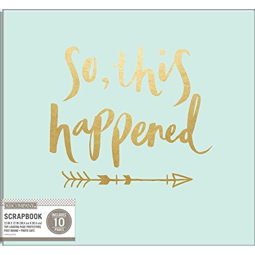 9 K&Co Scrapbook 12x12 So This Happened Foil Scrapbook 12x12 Sothishappened ()