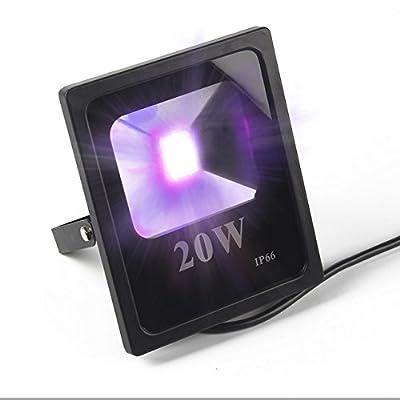 20W, AU plug : ANJOET 10W 20W 50W High Power 395nm UV LED Flood Light 220V Ultraviolet Curing Detection 85V-265V AC IP66 waterproof