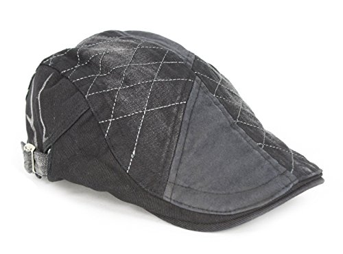 Largemouth Unisex Ivy Roadster Hat Distressed Black (One Size)