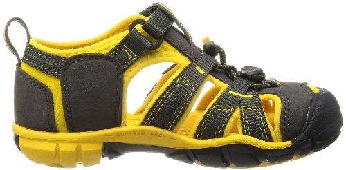 Keen SEACAMP II CNX T-RAVEN/YELLOW 1010094 Unisex-Kinder Sandalen Braun (Raven/Yellow)