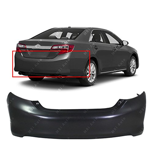 MBI AUTO - Primered, Rear Bumper Cover Replacement for 2012 2013 2014 Toyota Camry 12 13 14, TO1100296