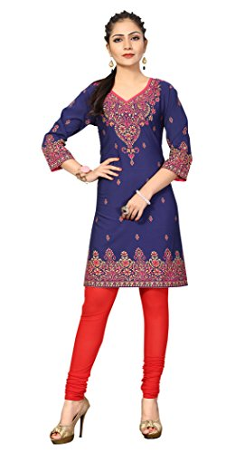 Indian Tunic Top Womens Kurti Printed Blouse India Clothing – Small, L 130