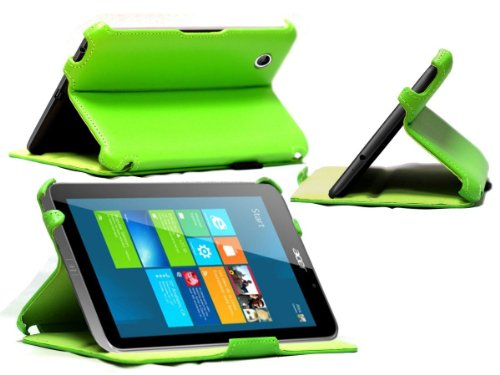 mitab-green-faux-leather-case-cover-for-the-acer-iconia-w4-windows-81-w4-windows-81-green