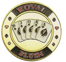 Da Vinci Hand Painted Poker Card Guard Protector, Spade Royal Flush