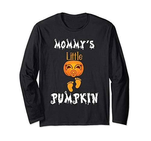 (Mommys Little Pumpkin Halloween Pregnancy Announcement gift Long Sleeve T-Shirt)