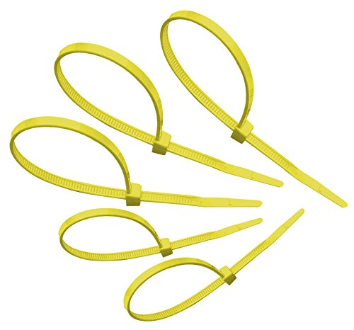 Tach-It 8'' x 40 Lb Tensile Strength Yellow Colored Cable Tie (Pack of 1000) by Tach-It