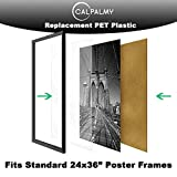 3 Packs of 24x36x0.03'' PET/Plexiglass Panels | Unbreakable and Lightweight Substitute for Glasses | Great Use for Sneeze Guard, Shield, Greenhouse, Poster Frames, Cricut | Safe for Children&Adults