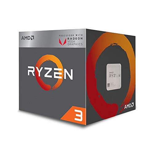 - AMD Ryzen 3 2200G Processor with Radeon Vega 8 Graphics