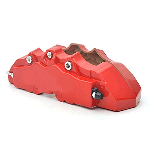 ❤Lemoning❤ 4PCS 3D Red Car Universal Disc Brake Caliper Covers Front & Rear Accessories Kit
