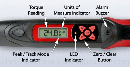 Checkline DTW-265i Electronic Torque Wrench, Capacity 265 in-lb / 30 N-m, Drive Size 1/4 in by Checkline