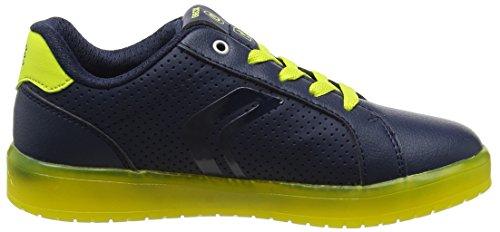Geox J Kommodor B, Zapatillas para Niños Azul (Navy/lime)