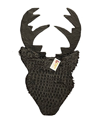 APINATA4U Black Reindeer Silhouette Pinata for Lumberjack Theme Party Hunting Party
