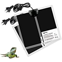 Lerway 2Pcs Heat Mat Reptiles Temperature Heating 5W/7W/14W Pet Supplies Snakes (5W)