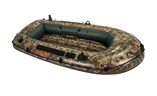 Two Man Fishing Boats (Intex Realtree Camo Seahawk 2 Inflatable Boat Fishing Raft with Rod Holders)