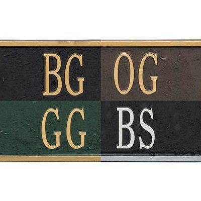 Address Sign - Custom Personalized Aluminum Address Plaque Made in USA - Displays Up to 5 House Numbers - Bronze, Black or Green with Gold Numbers and Black with Silver Numbers