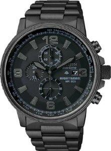 Mens Watch Citizen CA0295-58E Nighthawk Black Stainless Steel NightHawk - Nighthawk Citizen Watch