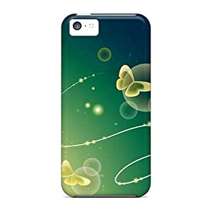 Slim Fit Tpu Protector Shock Absorbent Bumper Graphics Butterfly Case For Iphone 5c