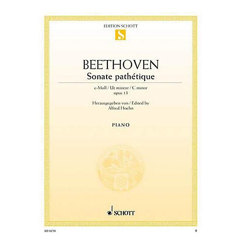 Sonata in C Minor, Op. 13 Path tique (from the Urtext) Schott Series Pack of 3