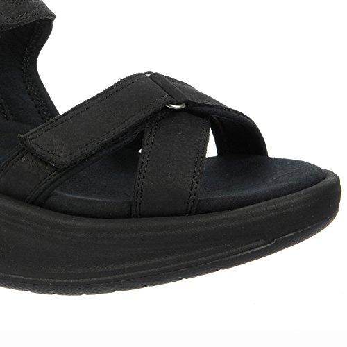 MBT Kisumu 5Black 700676Nubuck pour femme sandales Noir