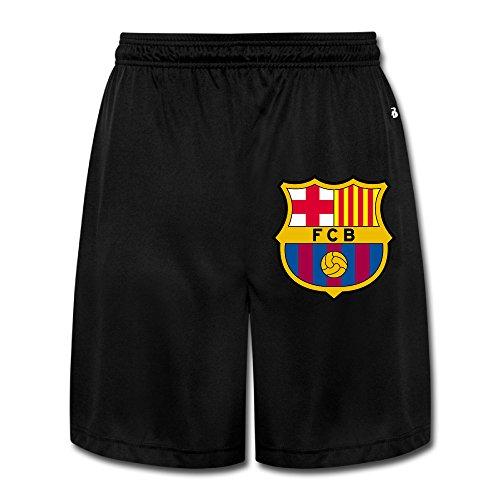 Leonards Workout Suits - MGTER66 Men's Barcelona Logo Short Workout Pants Size XXL Black