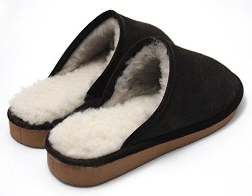 Kivala - Mules en peau de mouton Ebene
