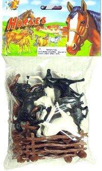 Horses Playset (16pcs)(Bagged)