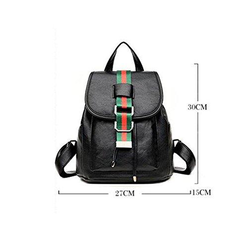 Y&F Signorina zaino Zaino studente cartella Borsa da viaggio Pacchetto di svago nero 27 * 15 * 30 cm