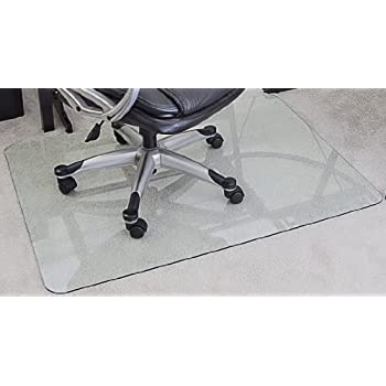 amazon com myglassmat 36 x 48 inch tempered glass chair mat for