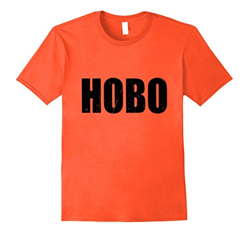 [Mens Hobo Halloween Costume Party Cute & Funny T shirt Small Orange] (Halloween Hobo Costume)