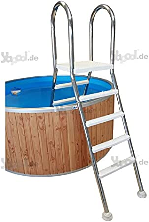 Pool Escalera piscina hochbecken Escalera escalera E150 Acero Inoxidable V2 A 2 x 5 peldaños: Amazon.es: Jardín