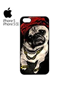 Pug Life Dog Funny Mobile Cell Phone Case Cover iPhone 5&5s Black