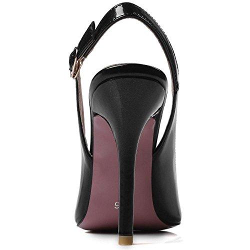 Slingback Pointed Zanpa Mode Black Pumps Donna 8g1Ex1q