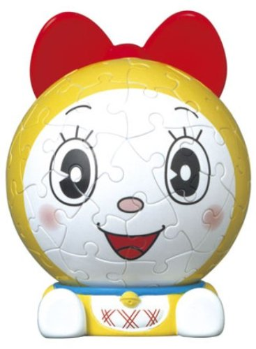 3D sphere puzzle big face mini Doraemon 60 Large Piece Dorami (diameter about 7.6cm) (japan import)
