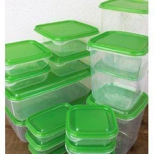 IKEA PRUTA Plastic Container Food Storage Containers 17 Piece Set