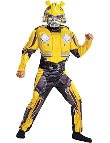 Disguise Bumblebee Classic Muscle Child Costume, Yellow, Size/(4-6)