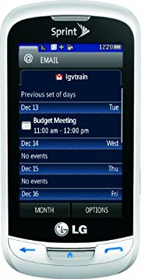 LG Rumor Reflex Phone, White (Sprint)