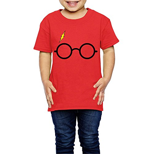 Price comparison product image Kids Boy's & Girl's Glasses With Flash Logo Cool Shirts 3 Toddler Red