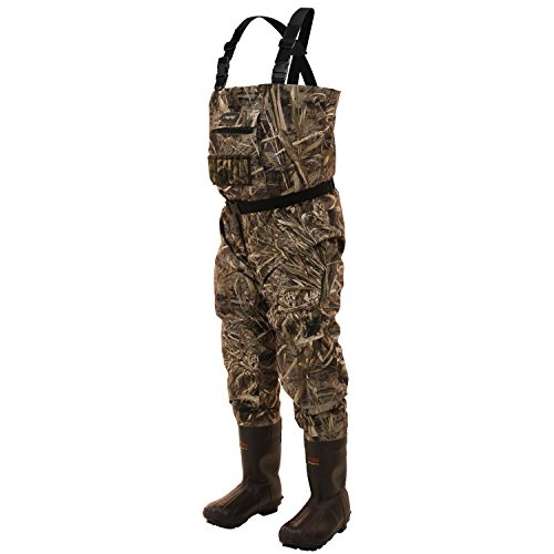 Frogg Toggs Hellbender Cleated Bootfoot Wader, Realtree Max, Size 12