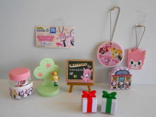 Japan Import Tobidase Animal Crossing Girl goods collection all seven all seven 1 Lisa of key cover 2 mirror 3 Able