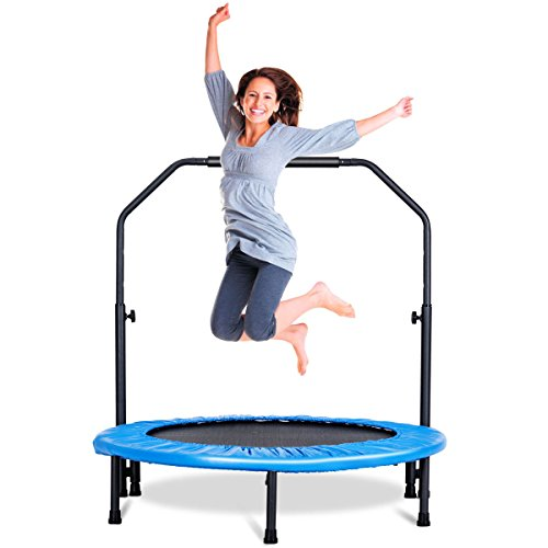 Giantex Mini Rebounder Trampoline With Handle Rail
