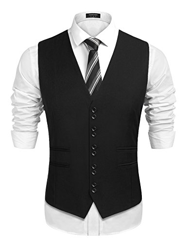 1920 Mens Fashion - COOFANDY Men's 1920's Style Suit Vest