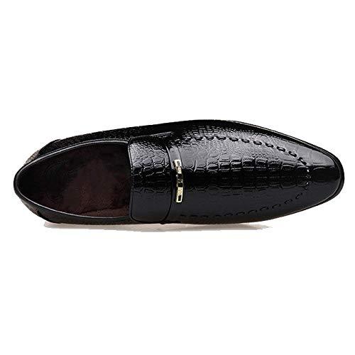 Scarpe Pelle Sposa Fashion Scarpe Calde da Uomo A all'Usura Basse in da Punta Brown Scarpe Business Resistenti CcwCqv4