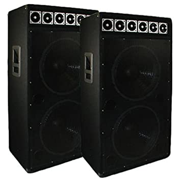 concert stage speakers. dual 15-inch pair pro audio karaoke dj concert stage speakers new 15djd a