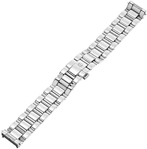 MICHELE MS18CW235009 Deco 18mm Diamond and Stainless Steel Silver Watch Bracelet